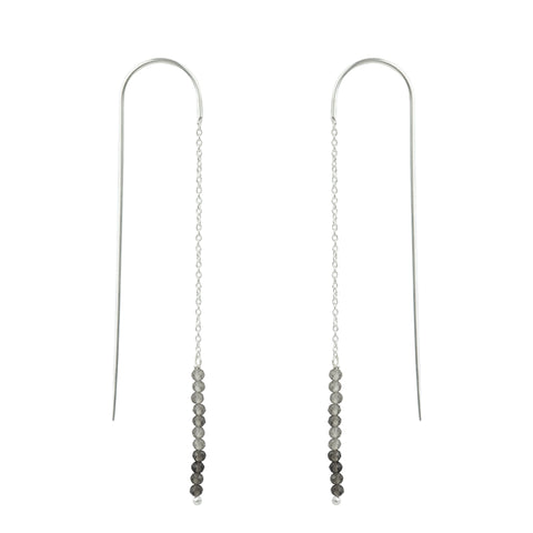 Stone Stack Threader Earrings