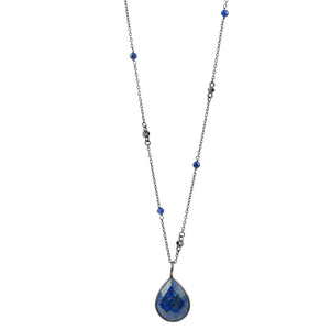 Antiqued Lapis Necklace