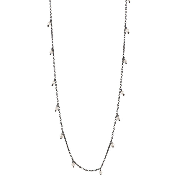"Falling Snow Necklace - 34"" L"