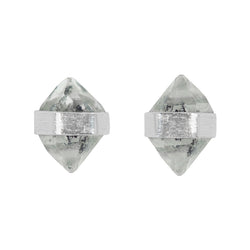 Herkimer Diamond Post Earrings in Silver