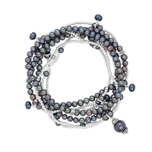 Black Pearl Bracelet Set