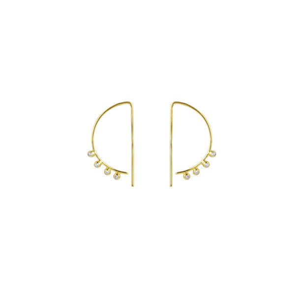Topaz D Hoops in Gold