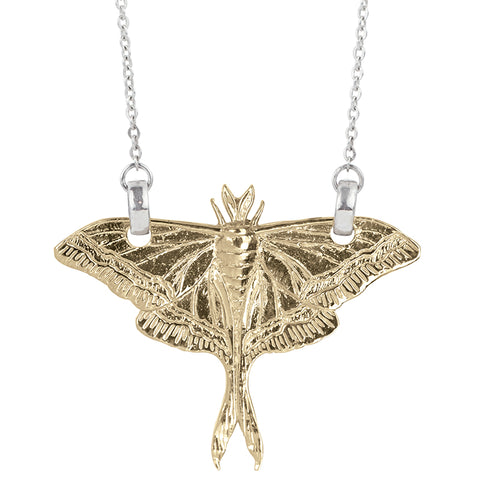 Luna Moth Necklace