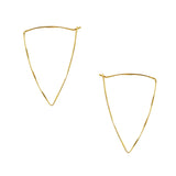Isosceles Triangle Hoop Earrings in Gold