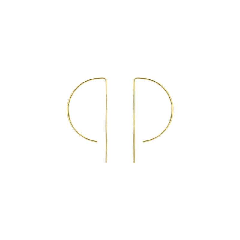 D Wire Hoop Earrings - Small in Gold