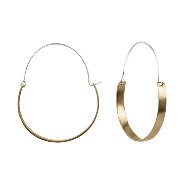 Bronze Saddle Hoop Earrings