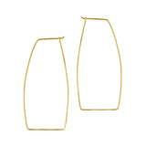 Geometric Hoop Earrings - Large in Gold