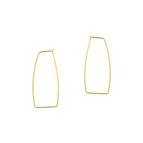 Geometric Hoop Earrings - Small in Gold