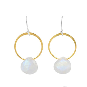 Rhea Earrings in Moonstone