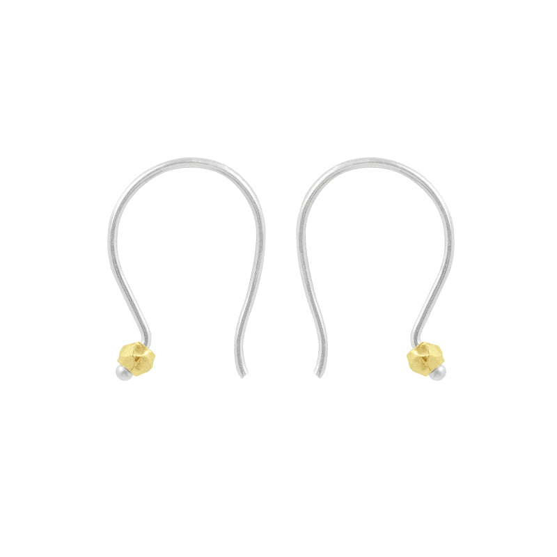 Small Curve Earring in Two-Tone