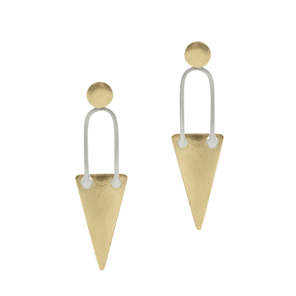 Hard Edges Triangle Earrings