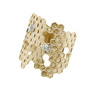 Honeycomb Cuff Bracelet | SOLD OUT - Will Ship 6/26