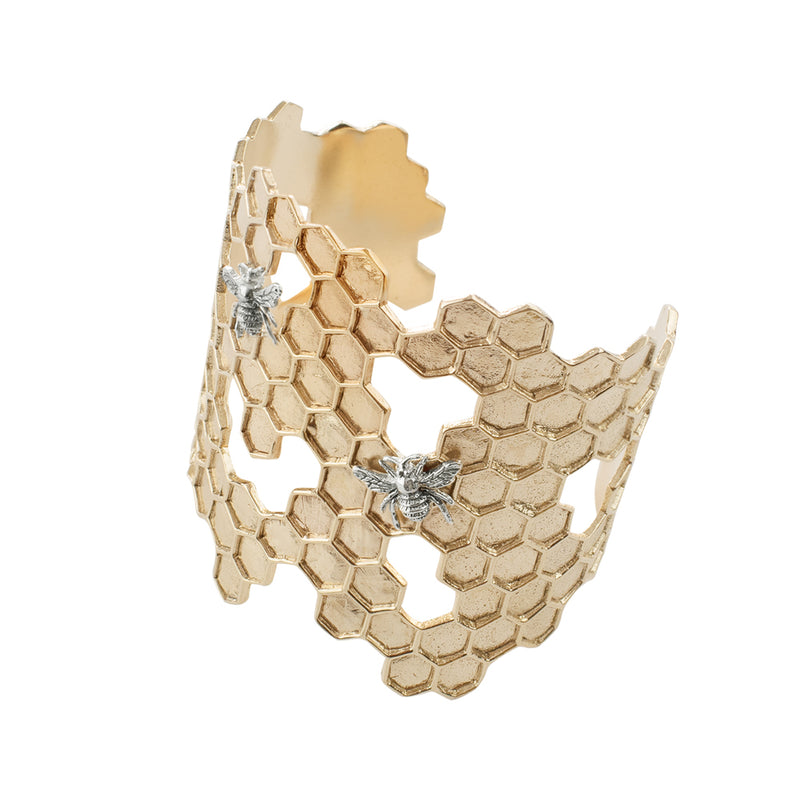 Honeycomb Cuff Bracelet | Available to ship 02/03