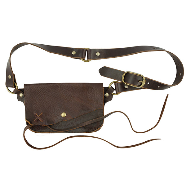 Saintly Convertible Belt Bag - Brown/ Without Charm