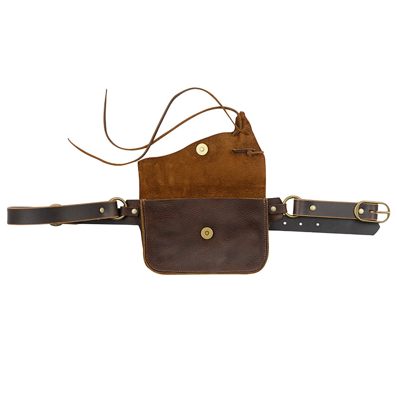Saintly Convertible Belt Bag - Brown without Charm