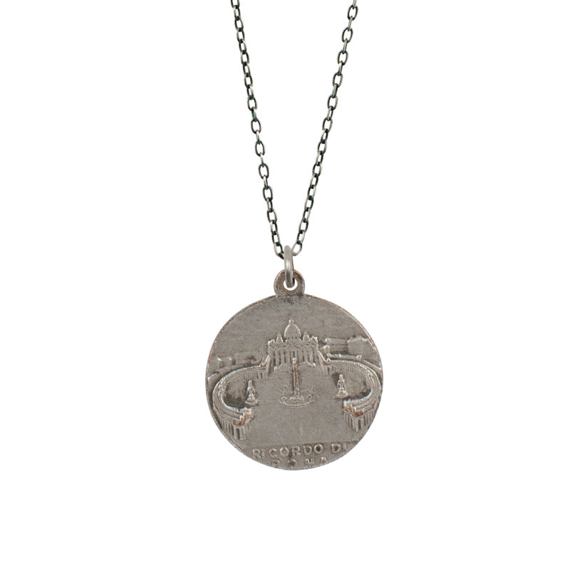 Pope Pius XI | Vintage Medal Necklace V84