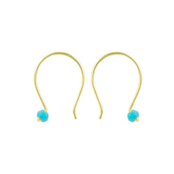Small Curve Earring in Turquoise & Gold