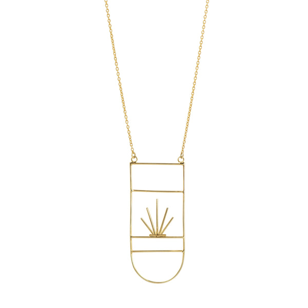 Desertscape Necklace in Gold