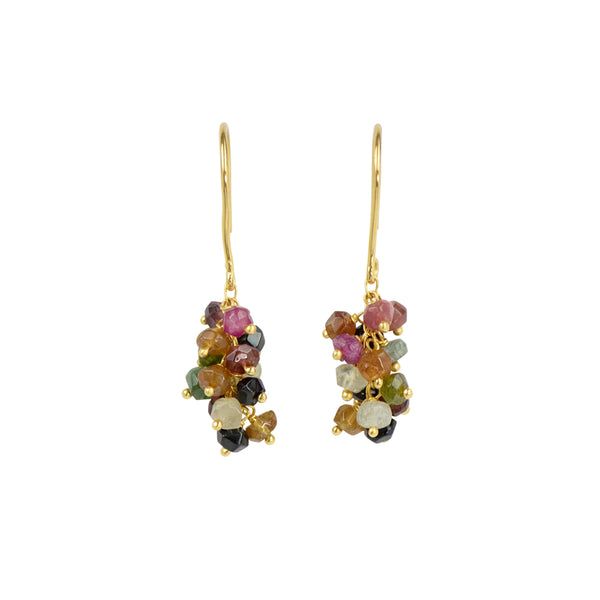 Tourmaline Stone Cluster Earrings