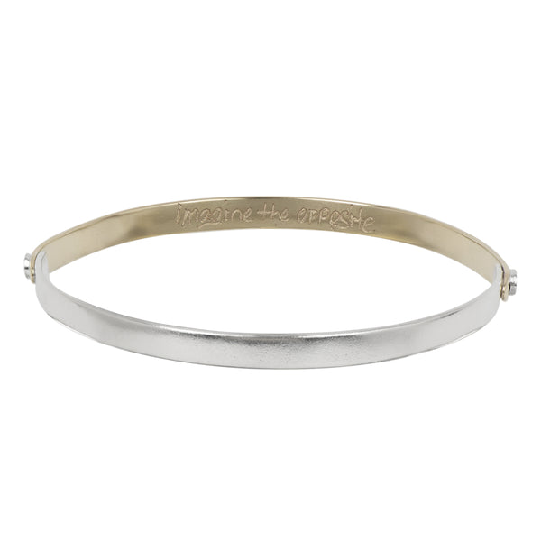 """Imagine the Opposite"" Bangle Bracelet"