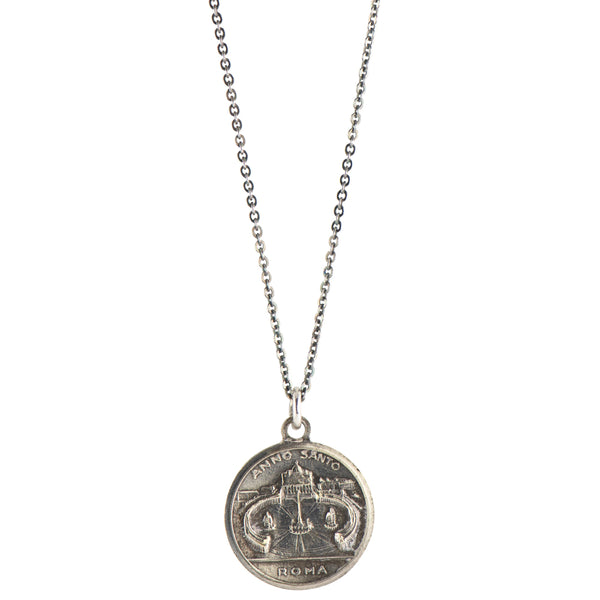Pope Pius XII | Vintage Medal Necklace #VA31