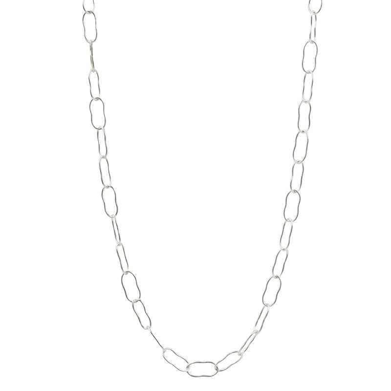 Magic Beans Layering Chain Necklace in Silver