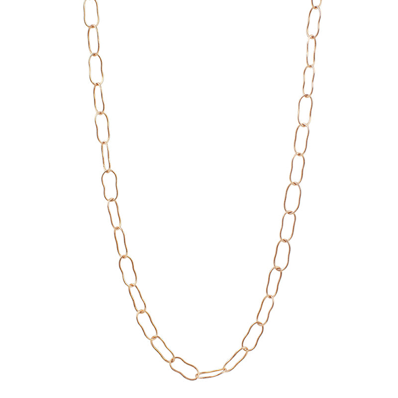 Magic Beans Layering Chain Necklace in Rose Gold