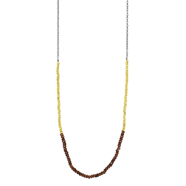 Gold Rush Garnet Necklace
