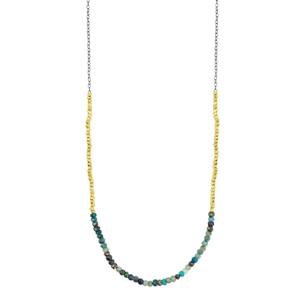 Gold Rush Chrysocolla Necklace