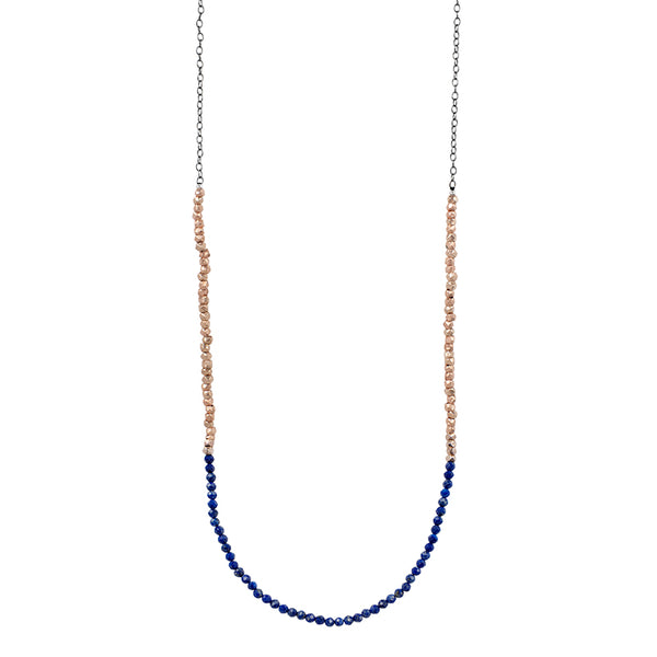 Gold Rush Lapis Necklace