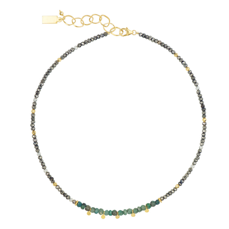 Chrysocolla and Pyrite Necklace