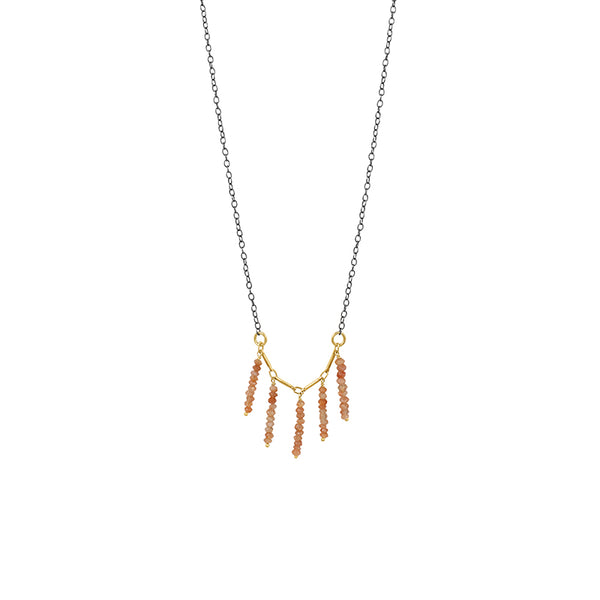 Stone Stack Fringe Necklace