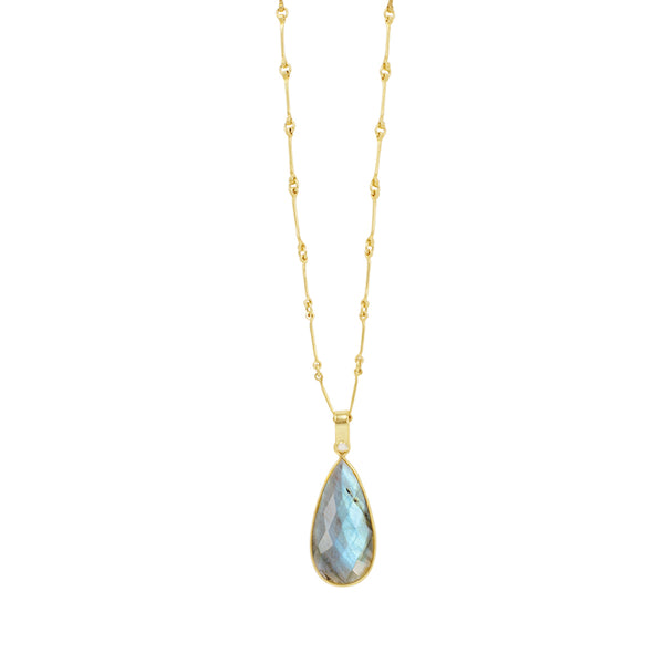 She's Riveting Necklace in Labradorite