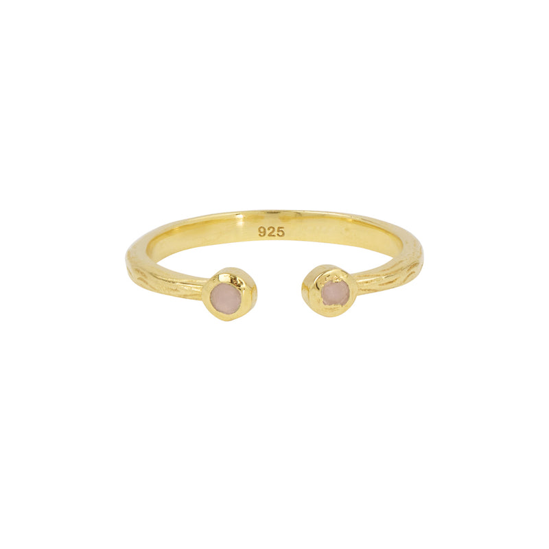 Souffle Stone Stacker Ring in Pink Opal and Gold | OUT OF STOCK - Will Ship 3/13