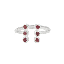Soufflé Stone Totem Ring in Ruby and Silver