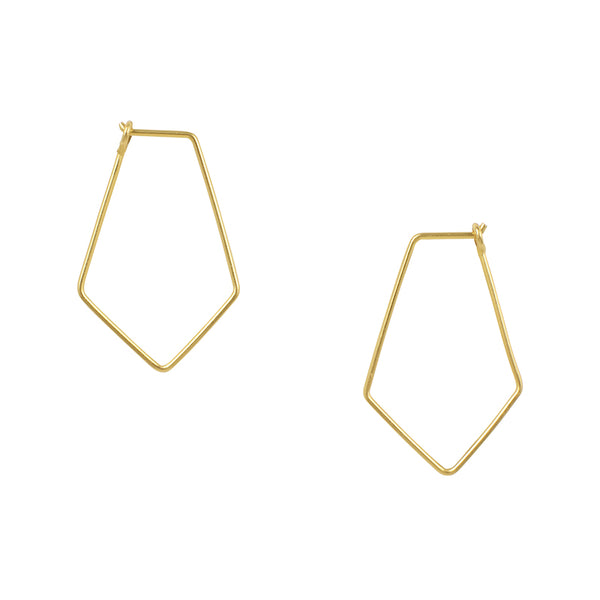 Small Rhombus Hoops in Gold