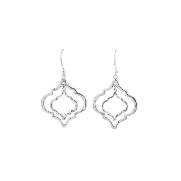 Mini Tangiers Earrings in Silver