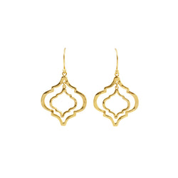Mini Tangiers Earrings in Gold