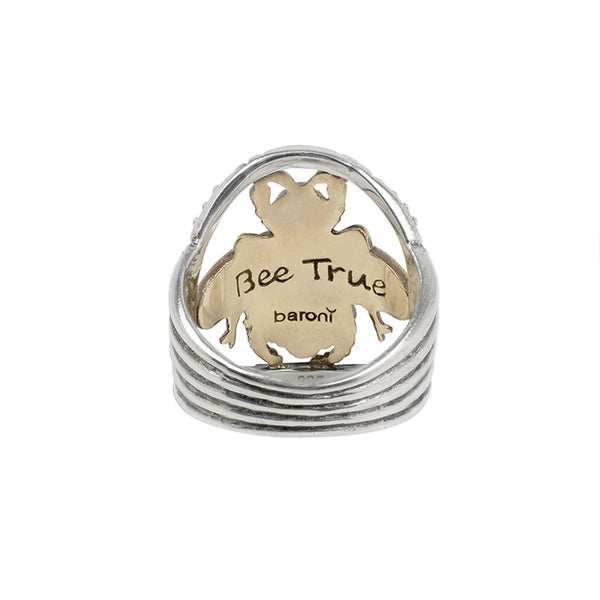 Bee True Silver and Bronze Ring