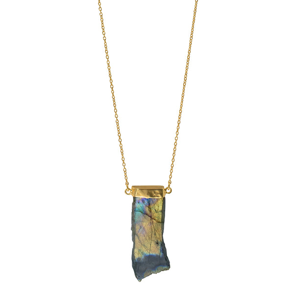 Capped Northern Lights Necklace in Gold