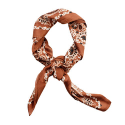Classic Silk Bandanna in  Copper