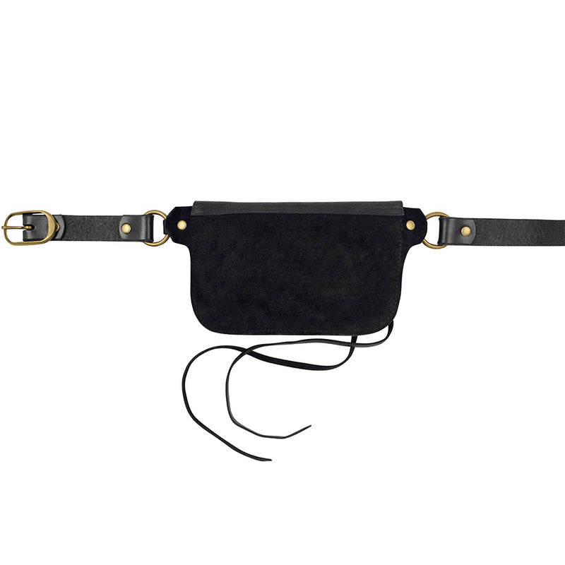 Saintly Convertible Belt Bag - Black