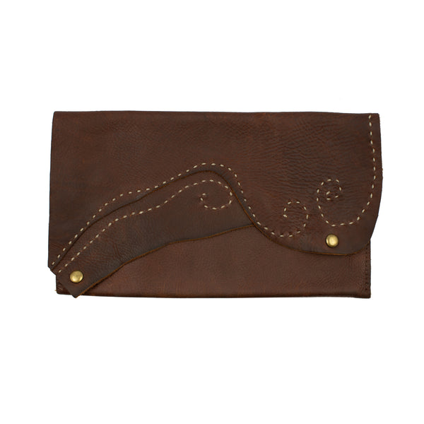 Flight Path Handmade Leather Clutch