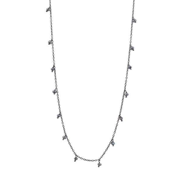 "Falling Rain Necklace, 34"" L"