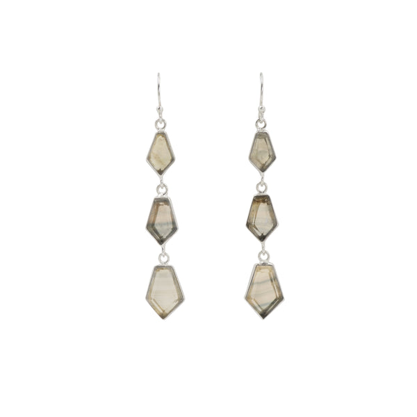 En Pointe Duster Earrings in Fluorite and Silver