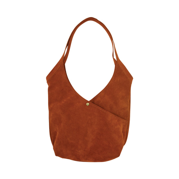 Super Soft Suede Bag in Burnt Orange