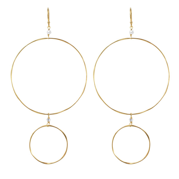 The Sun and Moon Hoops in Gold and Silver