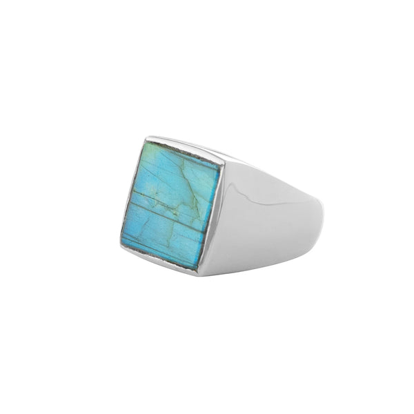 Labradorite Window Ring in Silver