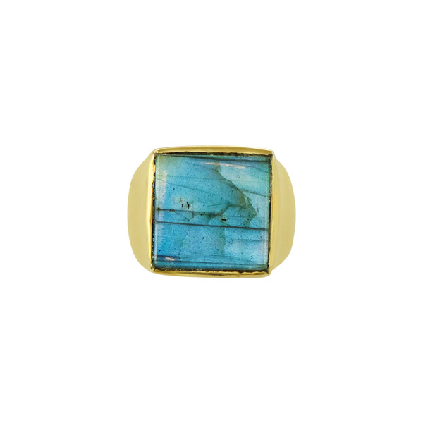 Labradorite Window Ring in Gold | OUT OF STOCK - Will Ship 4/17
