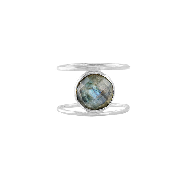 Labradorite Cage Ring in Silver